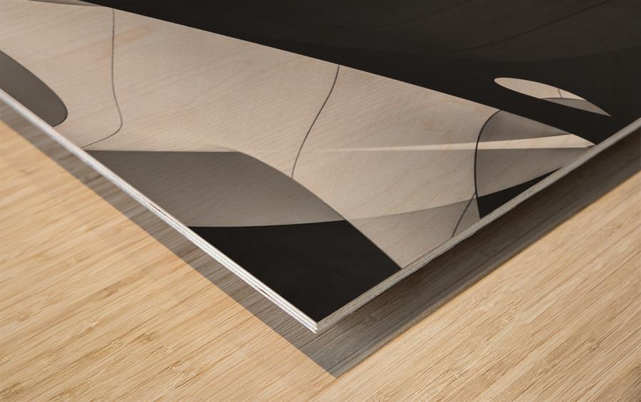 Abstract Sailcloth 4 Wood print