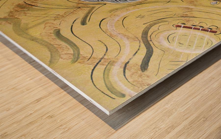 notes et guitare 19P 2006 Wood print