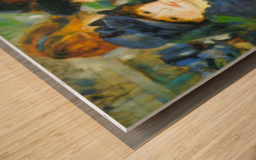 Two Girls by Renoir Wood print