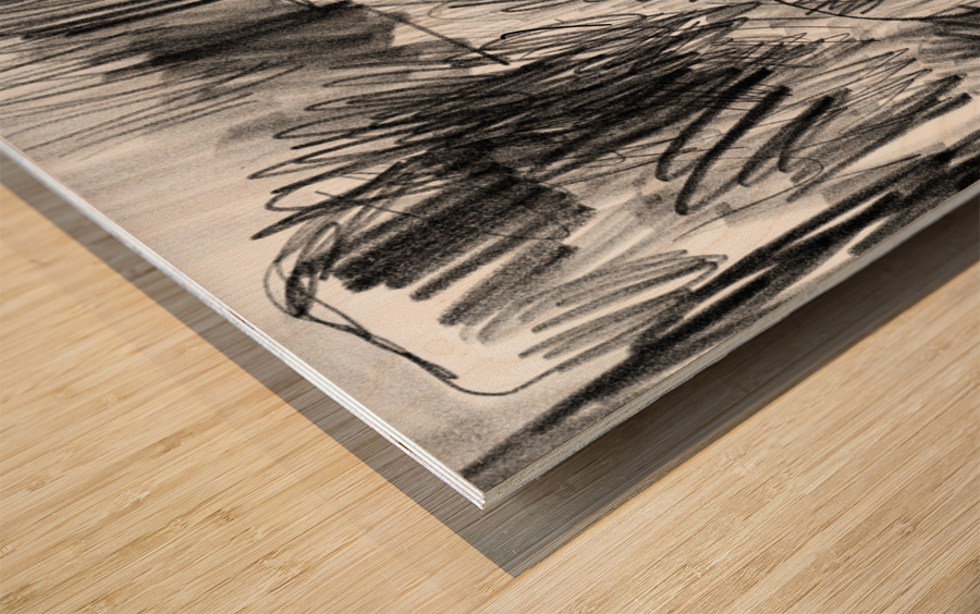 Lawn sketch Wood print
