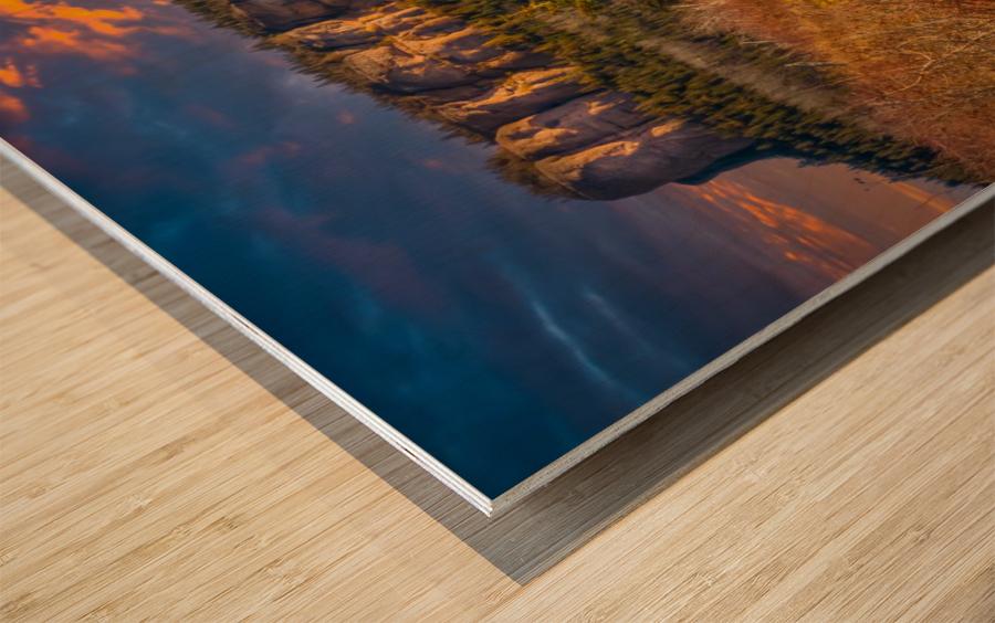 Route des Failles - La crevasse Wood print