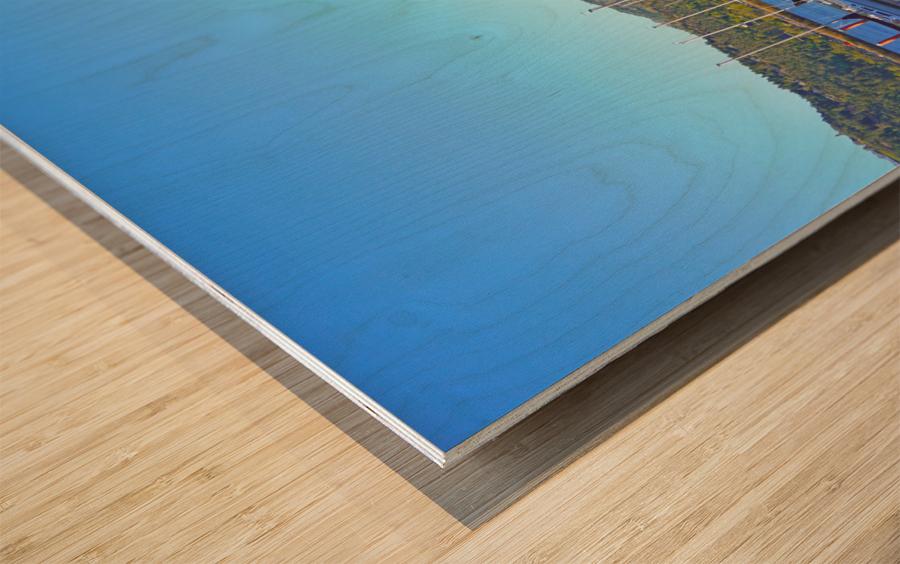Perfect Day at Hood River Marina   Oregon Wood print