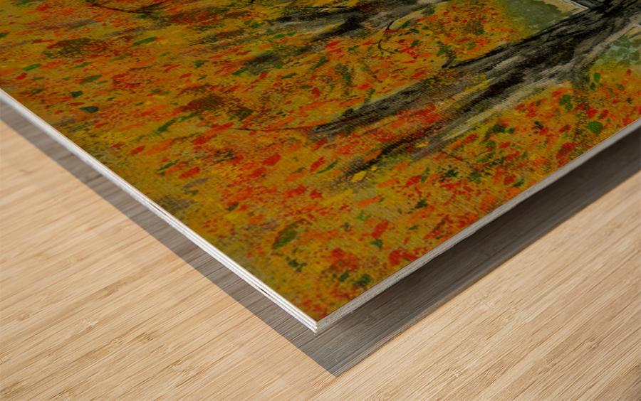 Autumns Pathway Wood print