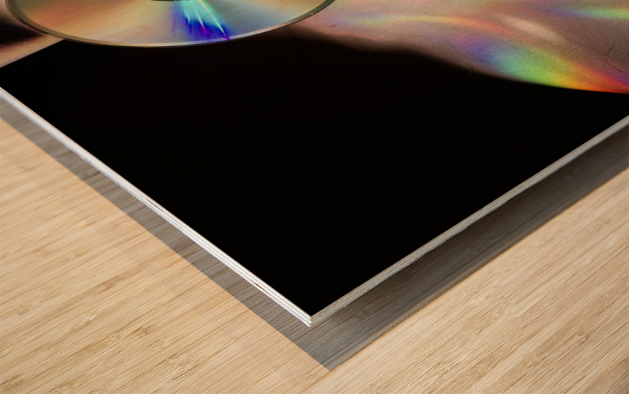 CD Rainbows Wood print