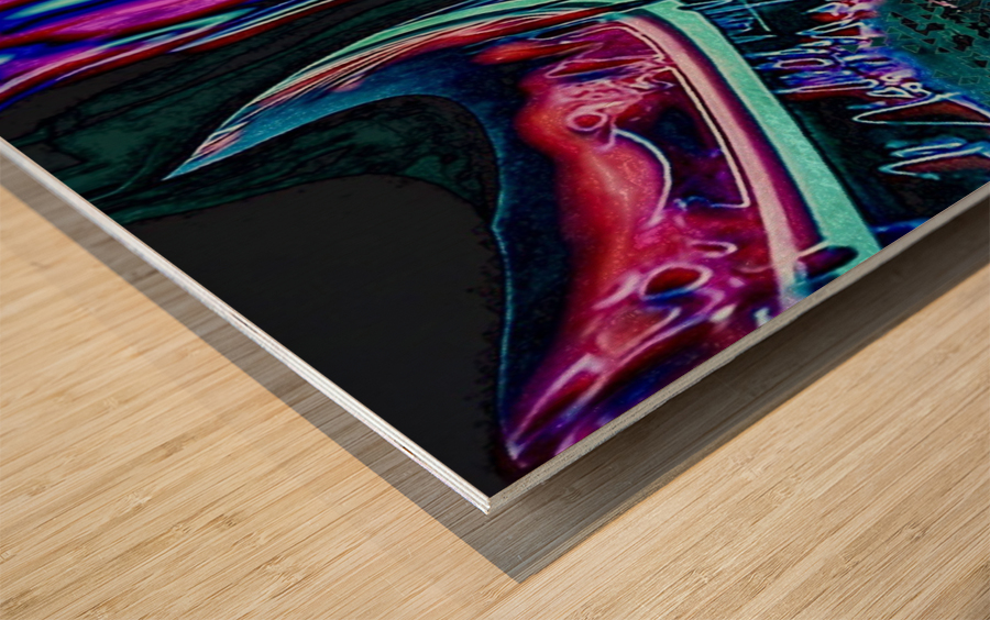 Colorful Distortions Wood print