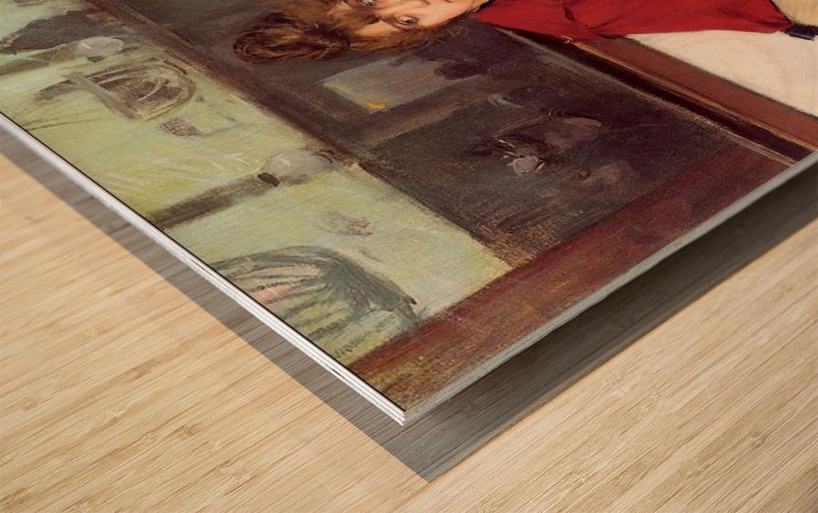 Au Moulin de la Galette Wood print
