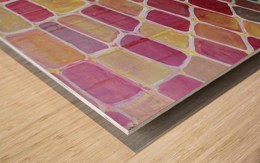 colorblocks Wood print