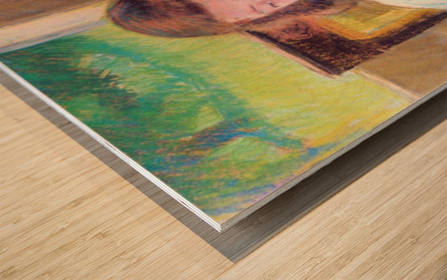 Young girl reading by Cassatt Wood print