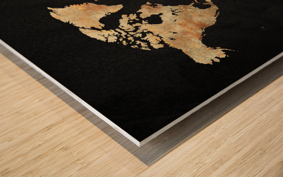 Artistic World Map XIII Wood print