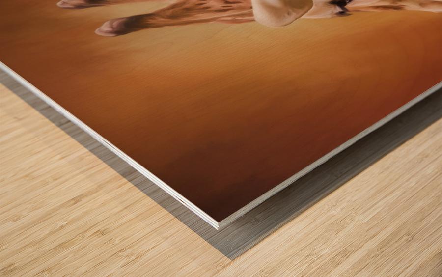 Rising Above - Giraffe Art Wood print