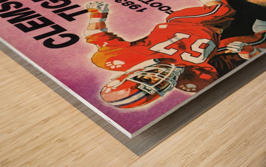 1983 Clemson Tigers Football Poster Wood print