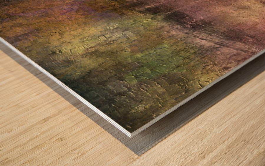 Dusky Tones Wood print
