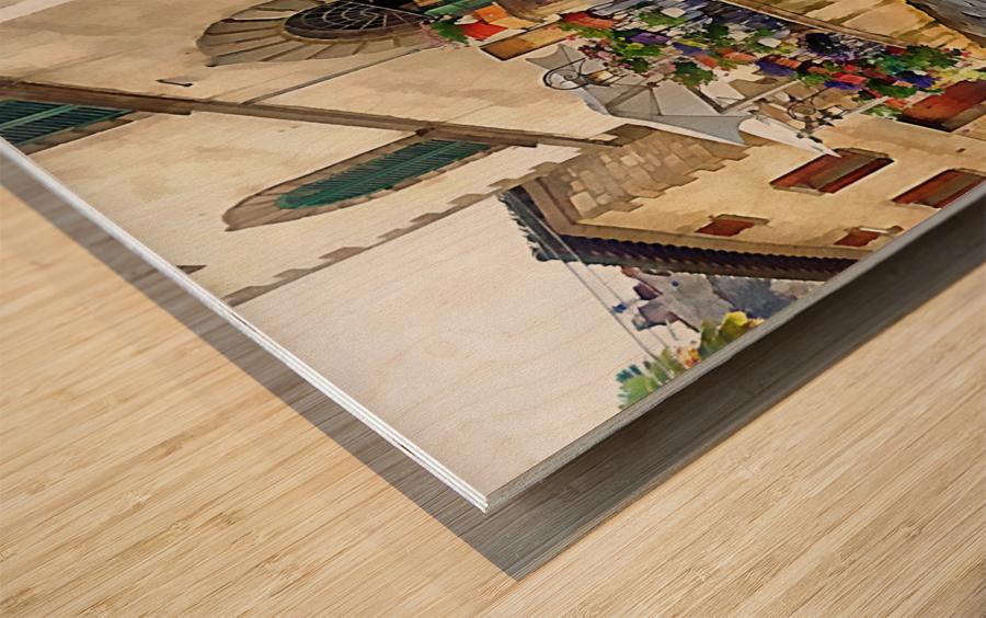 Floral Display Cortona Wood print