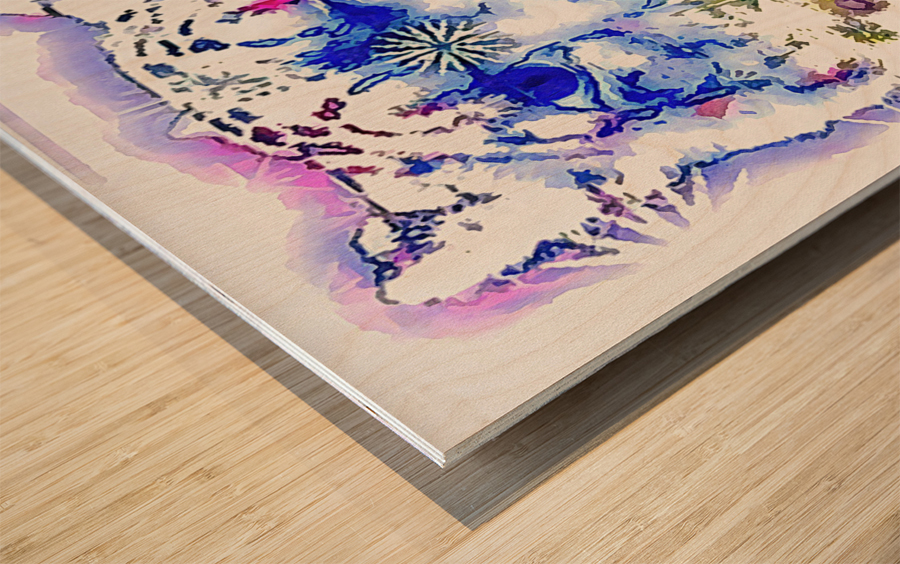 Spirit of the Snow Leopard  Wood print