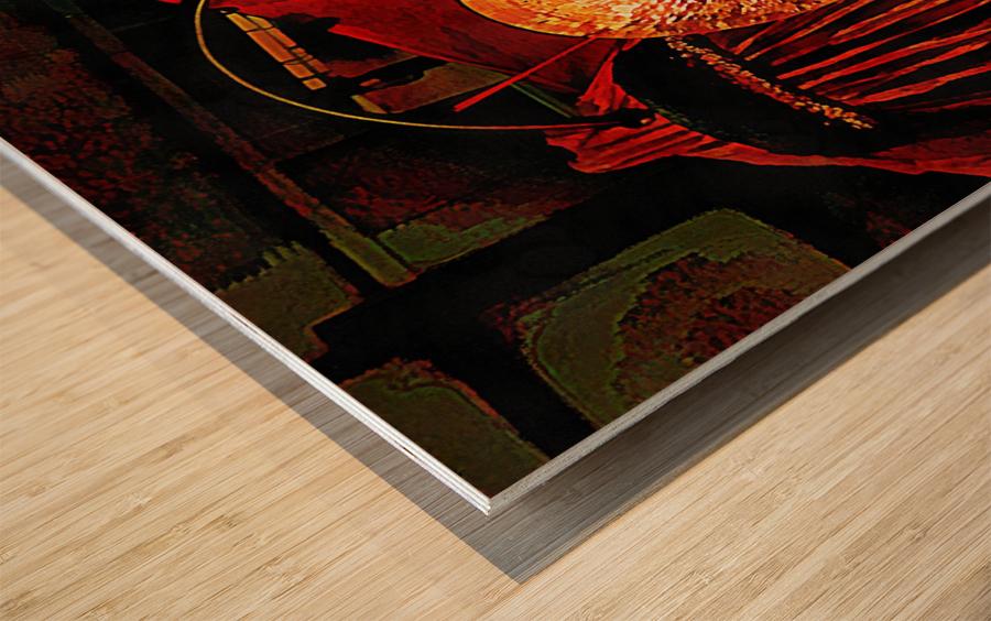 Energy Of Gongs Wood print