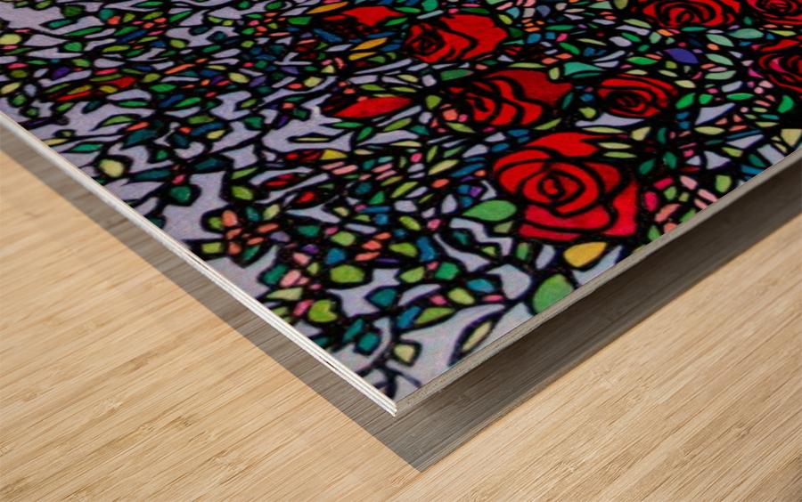 Garden of Roses Wood print