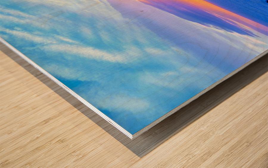 Rainbow Sunset in the Tropics   Hawaii Wood print