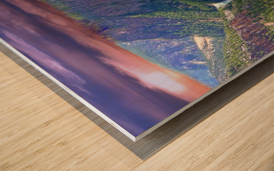Grand Canyon of Yellowstone in the Waning Light of Day - Yellowstone National Park at Sunset Wood print