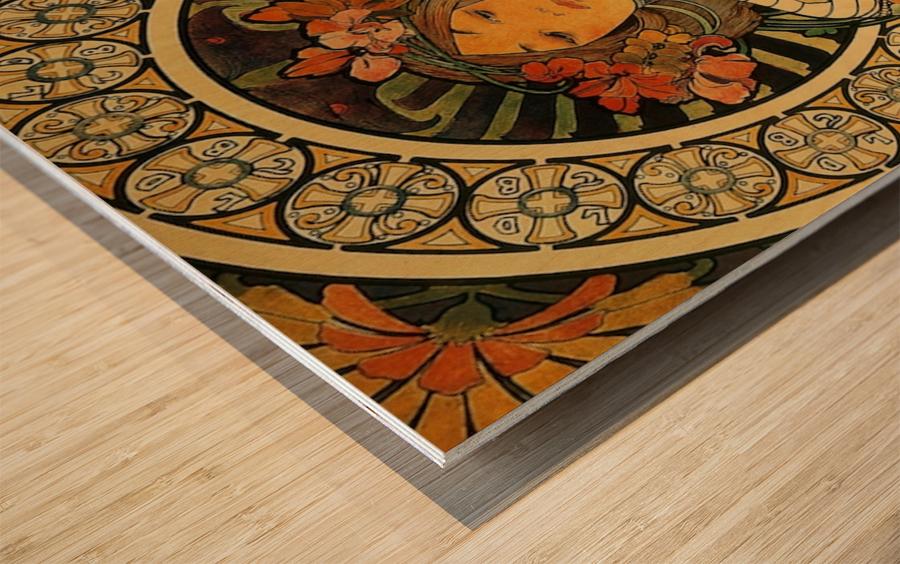 La Trappistine by Alphonse Mucha Wood print