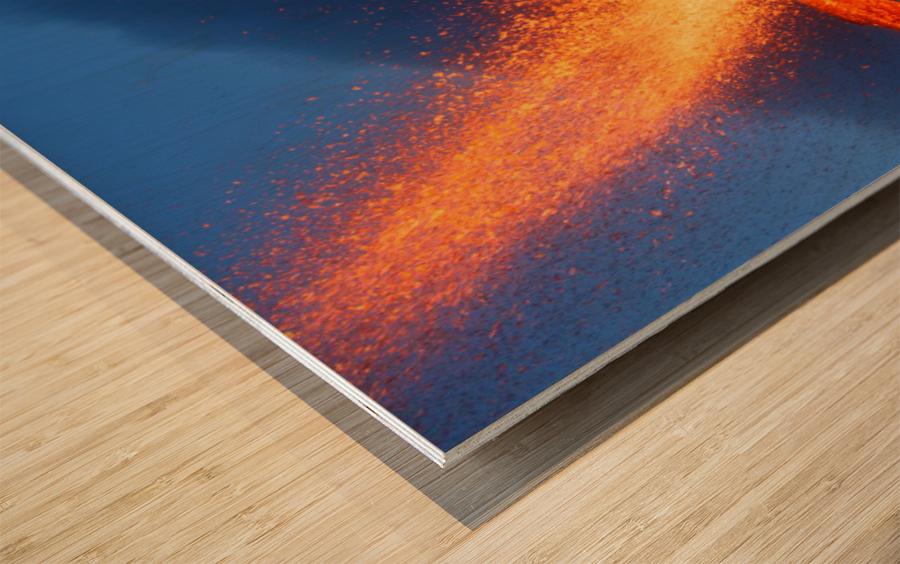 Hot Landscape Wood print