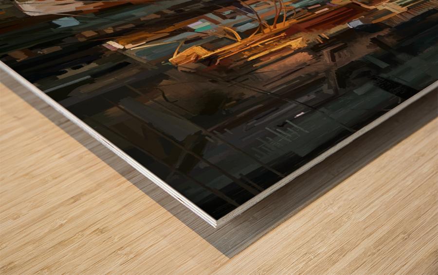LateNightStreet Wood print