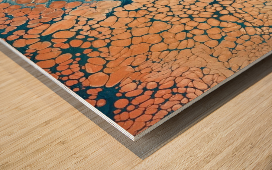 Coral Reef Abstract Wood print