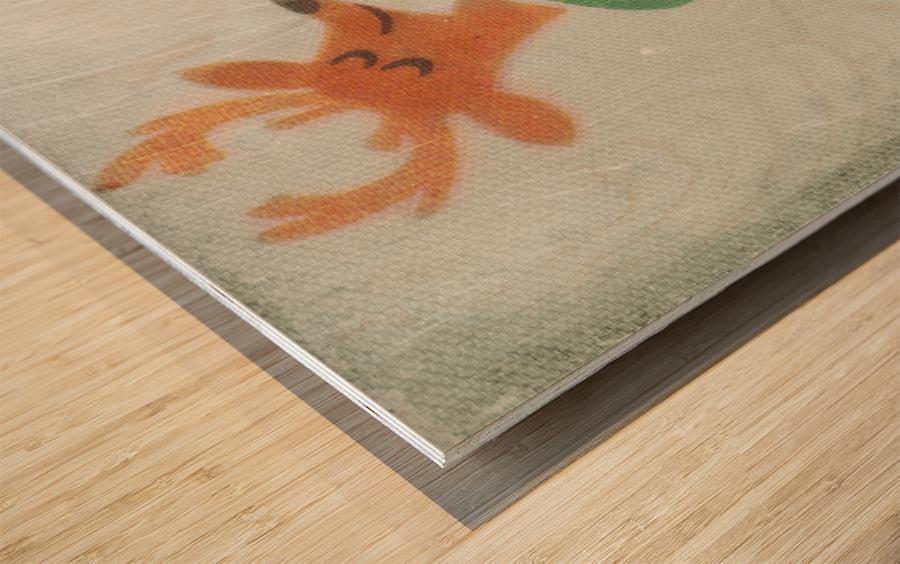 1974 Milwaukee Bucks Fleer Decal Art Wood print