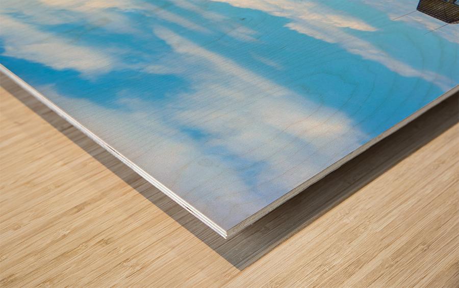 Skyline Lucerne Switzerland Wood print