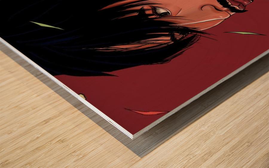 Portrait Painting In The MV Hide and Seek Wood print