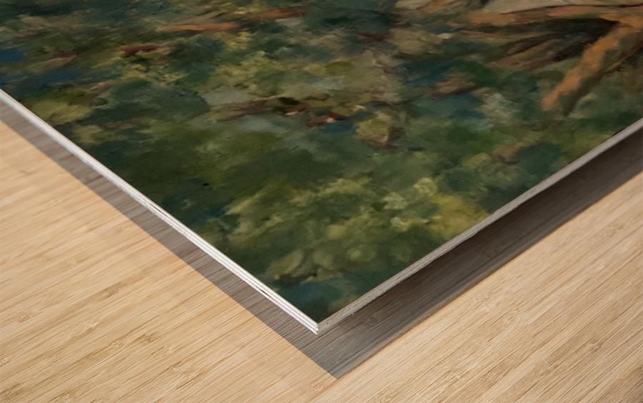 Oak trees Wood print