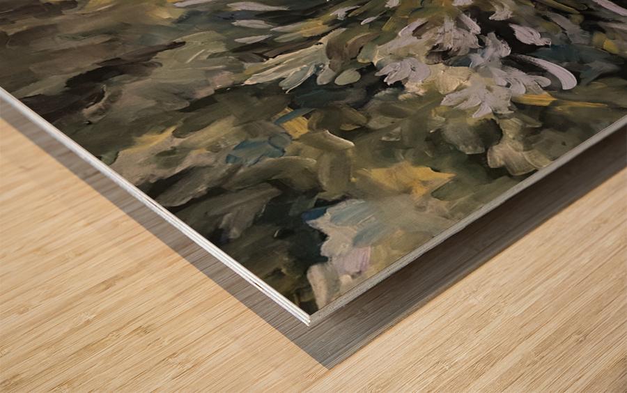 Agapanthus  Wood print