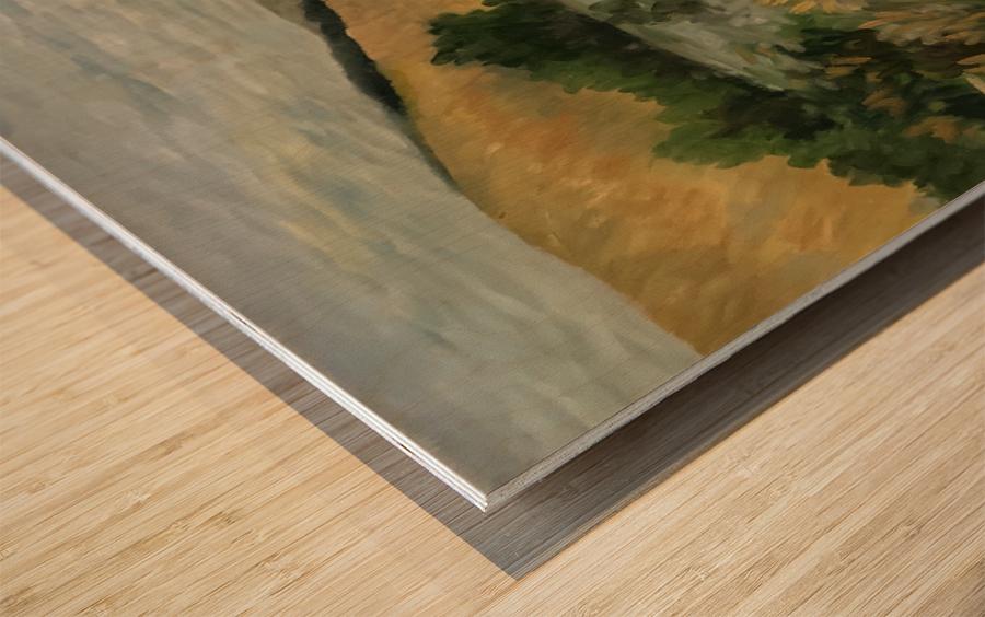 Arkansas field Wood print