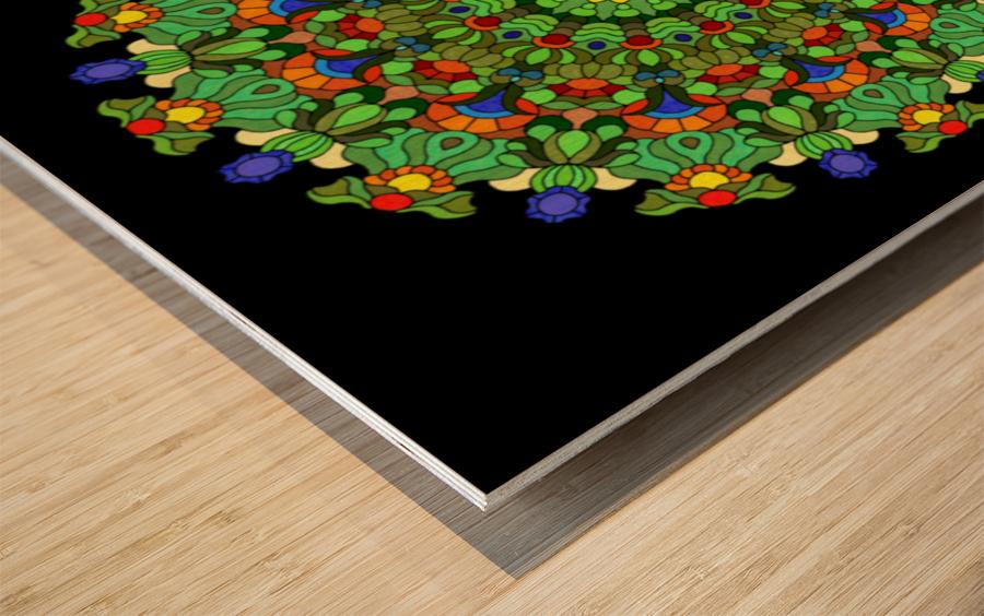 Mandala 2028 Wood print