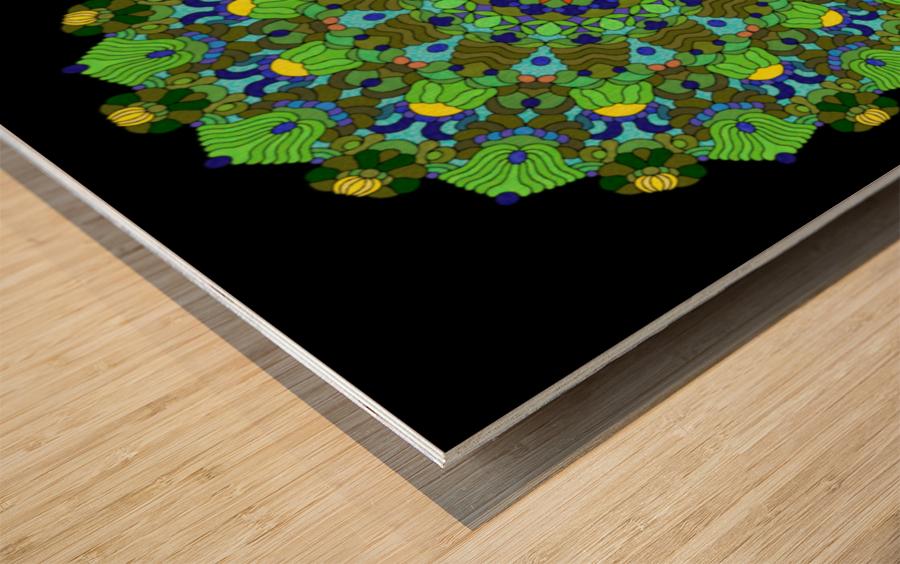 Mandala 2022 Wood print