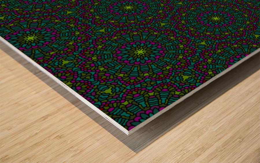 Mosaic 11 Wood print