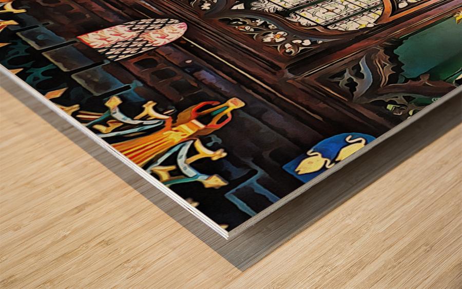 Lound Church Rood Screen 1 Wood print