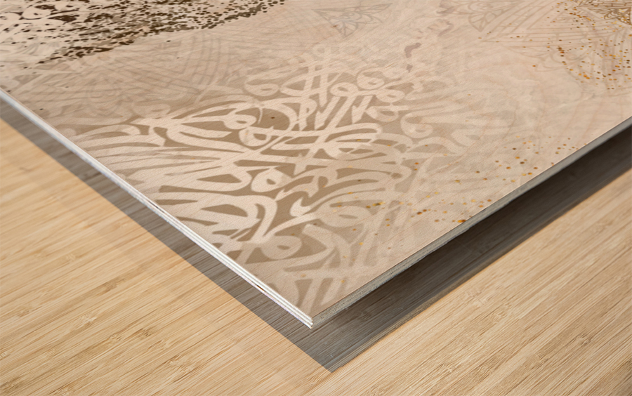 calligraphy horse  Wood print