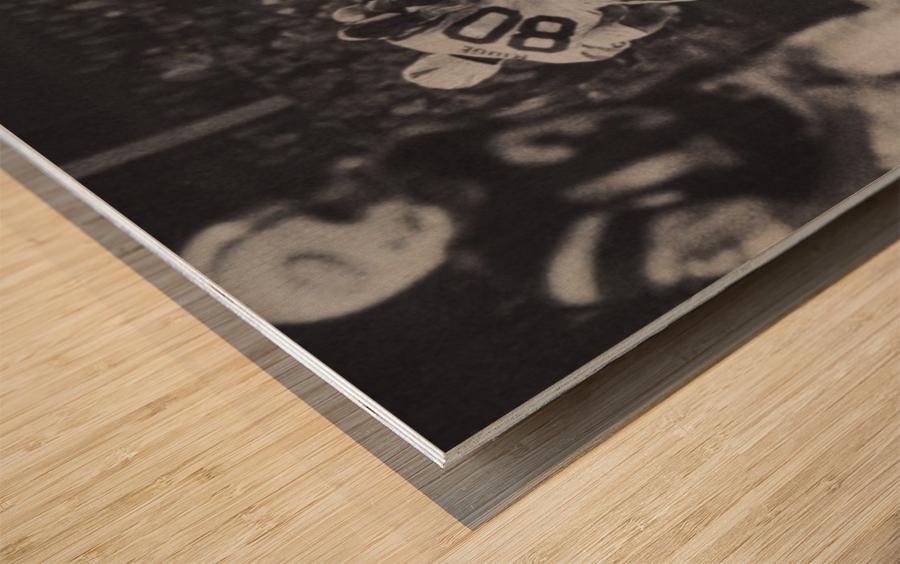 1968 New York Jets Joe Namath Pass Photograph Wood print