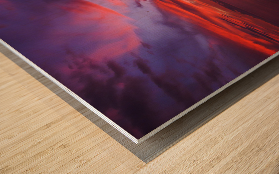 Euphoria Before Bliss - 2013 ARTWORK OF THE YEAR WINNER - Pink and Orange Kissed Skies over Hawaii at Sunset Wood print