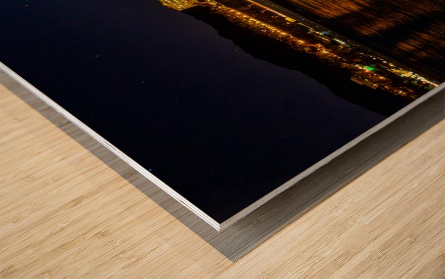 Santa Monica Skyline Wood print