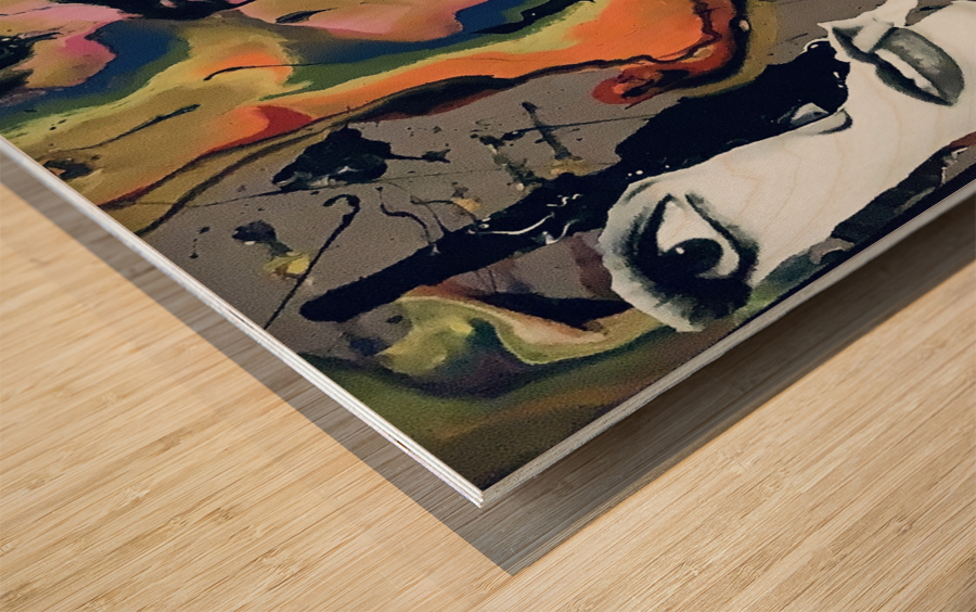 One in Vermillion Wood print