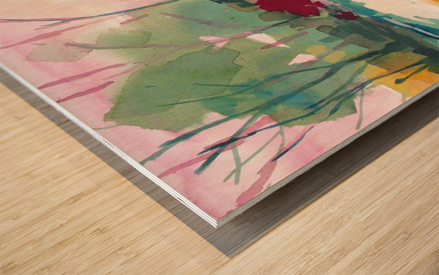 Wildflower Field Wood print