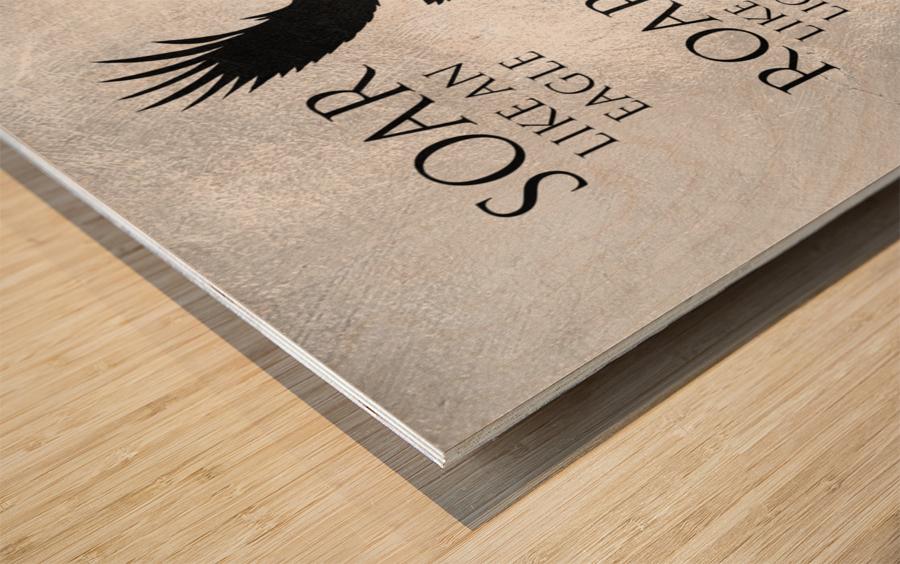 lion and eagle Motivational Wall Art Wood print
