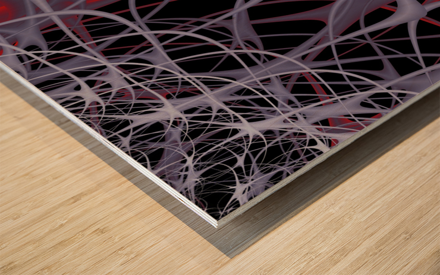 Spaghettification Wood print