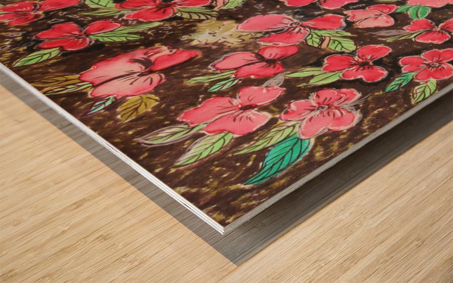 Redflowers Wood print