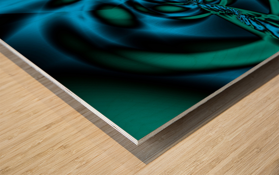 Wormhole approach Wood print