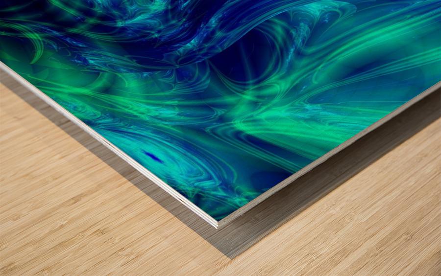 Glasswaves Wood print