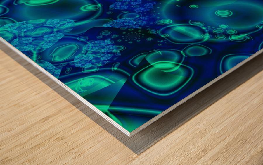 SeaCells Wood print