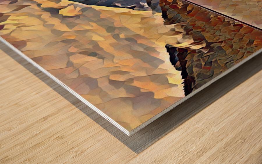 Lake Crescent Wood print