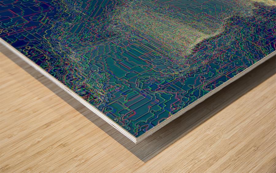 Waterfall Prism Wood print